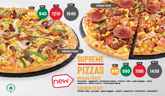 Pizza Inn supreme pizzas